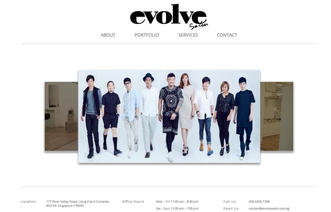 evolvesalon_website